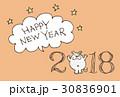 戌年 年賀状 戌のイラスト 30836901