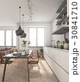 ミニマル キッチン 厨房のイラスト 30841710