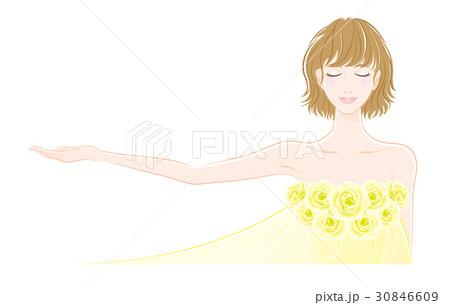 美しい女性のイラストのイラスト素材 30846609 Pixta