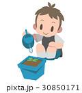 朝顔 子供 鉢植えのイラスト 30850171