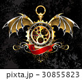 Clock with dragon wings 30855823