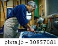 男性 シニア 藍染の写真 30857081