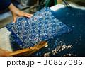 藍染 手捺染 ファブリックの写真 30857086