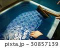 藍染 染物 捺染の写真 30857139