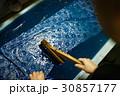 藍染 染物 捺染の写真 30857177