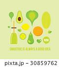 ベクトル グリーン 緑色のイラスト 30859762