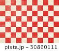 市松模様 紅白 和柄のイラスト 30860111