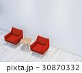 インテリア 白い部屋 家具のイラスト 30870332