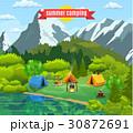 キャンプ 収容所 森林のイラスト 30872691