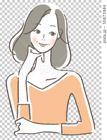 微笑む女性 中年 30873984