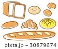 パン 食パン クロワッサンのイラスト 30879674