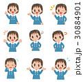 バリエーション ポーズ 子供のイラスト 30884901