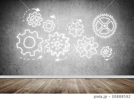 Gear mechanism as teamwork conceptの写真素材 [30888592] - PIXTA