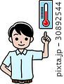 半袖の男性と温度計 30892544