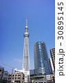 スカイツリー 青空 東京スカイツリーの写真 30895145