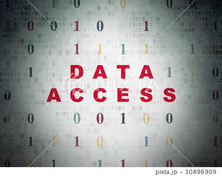 Data concept: Data Access on Digital Data Paper 30896909