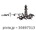 通天閣 水彩画  30897313