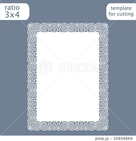 Laser cut wedding invitation card template  30898868