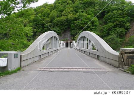 信州 小谷村の姫川橋 昭和12年建造のRCローゼ橋 戦時下の鋼材不足に対応 土木遺産指定 30899537