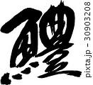 鱧 魚 筆文字のイラスト 30903208