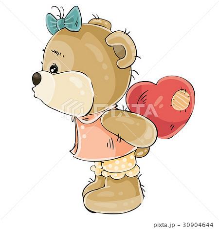 Vector illustration of a loving brown teddy bear 30904644