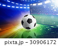 Live television broadcast of soccer match 30906172