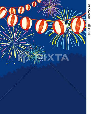 夏祭り ポスター 背景イラストのイラスト素材 30929538 Pixta