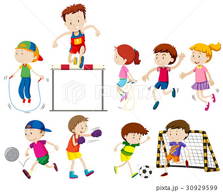 Children doing different kinds of sports 30929599