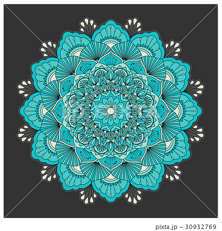 Vintage colorful Mandala with floral ornamentのイラスト素材 [30932769] - PIXTA