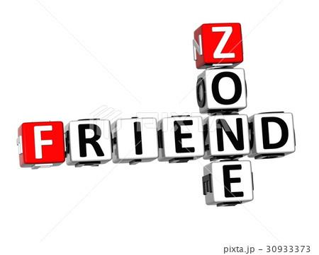 3D Crossword Friend Zone on white backgroundのイラスト素材 [30933373] - PIXTA