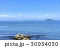 富士山 江の島 青空 海 30934050