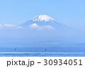 富士山 スタンドアップパドル 海 青空 30934051