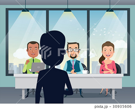 job interview with hr and boss talent audition のイラスト素材