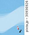 金魚 水色 バックグラウンドのイラスト 30936926
