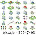 立体建物【セット素材・シリーズ】 30947493