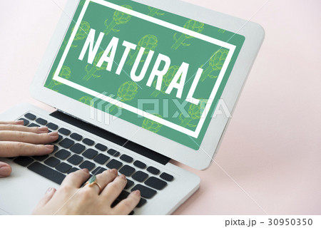 natural vitality reviving graphic design wordの写真素材 30950350