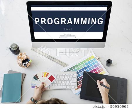Programming HTML Coding Technology Iconの写真素材 [30950965] - PIXTA