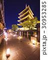 3月京都 法観寺・五重塔(八坂の塔)のライトアップ 30953285