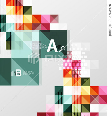 Vector square elements on gray abstract backgroundのイラスト素材 [30960976] - PIXTA