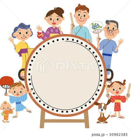 太鼓と三世代家族 30962385