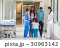 Asian Indian Family, Doctor and Nurse in Hospital  30963142