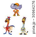 消防士キャラクター、消防士動物キャラ、 30964276