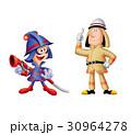 消防士 人物 男性のイラスト 30964278