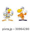 消防士動物キャラ、鳥キャラ消防士 30964280