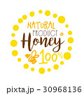 Honey natural product, 100 percent logo. Colorful 30968136