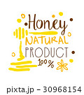 Honey natural product, 100 percent logo symbol 30968154
