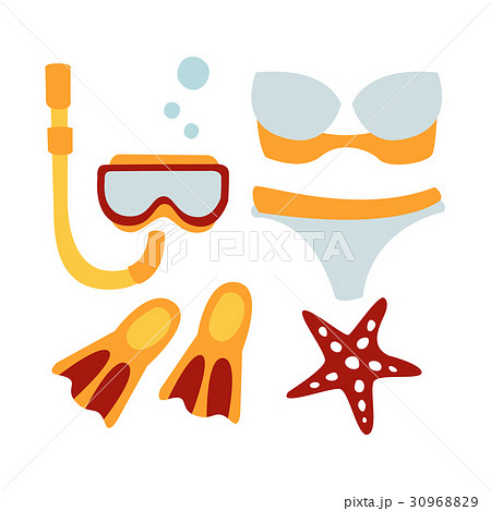 Women swimsuit and accessories for diving 30968829