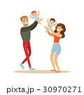 ファミリー 家庭 家族のイラスト 30970271
