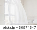 Abstract white waving curtain 30974647