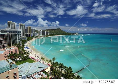 ハワイの風景 ワイキキビーチ 30975587